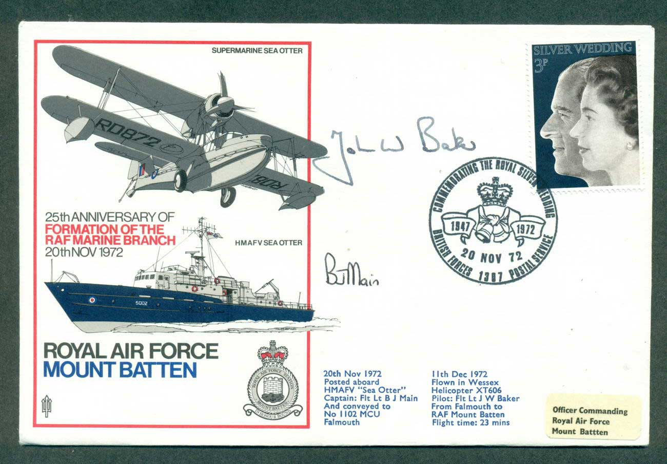 GB 1972 RAF Mountbatten Catain Signed lot42693