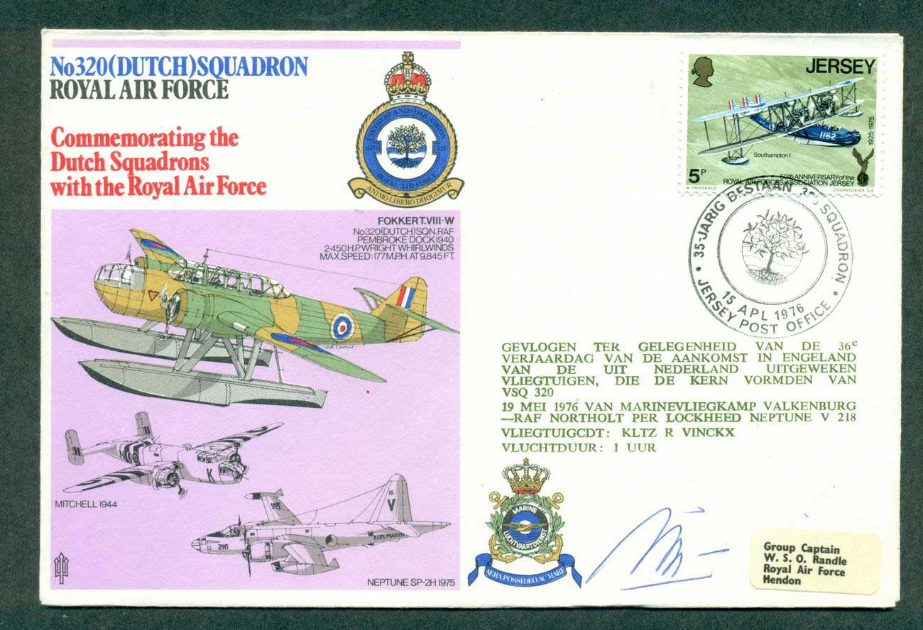 Jersey 1976 RAF Dutch Squadron Crewe Signed lot42696