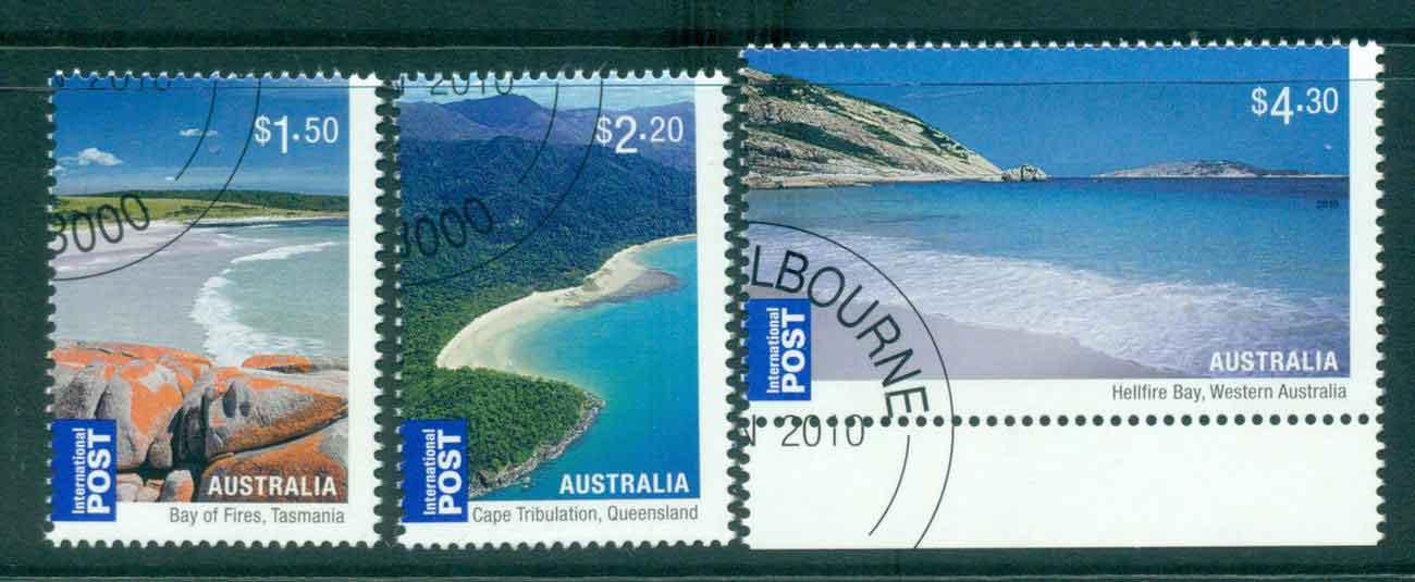 Australia 2010 Australian Beaches (3)(MUH) CTO lot43253