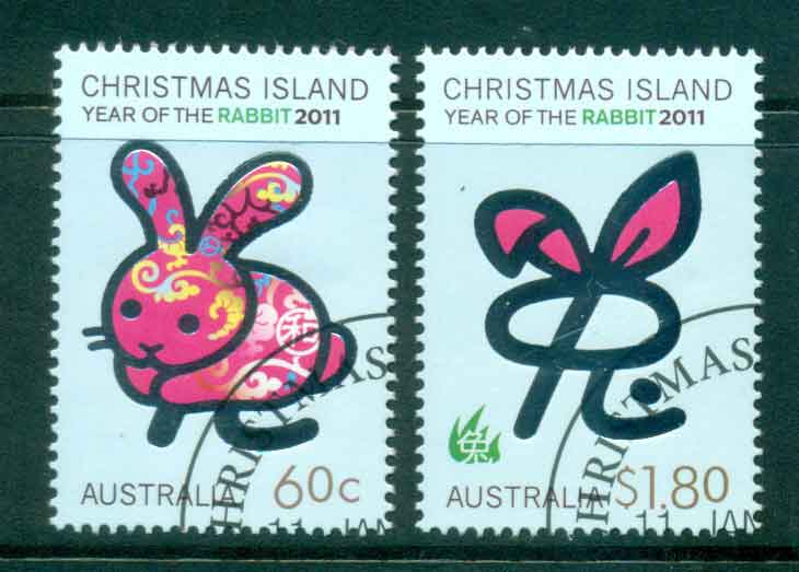 Christmas Is 2011 Year of the Rabbit (2)(MUH) CTO lot43273