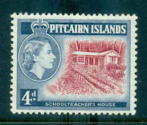 Pitcairn Is 1958 QEII Pictorials 4d Redrawn MLH lot43307