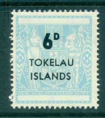 Tokelau Is 1966 6d Surch on NZ Arms MLH lot43405