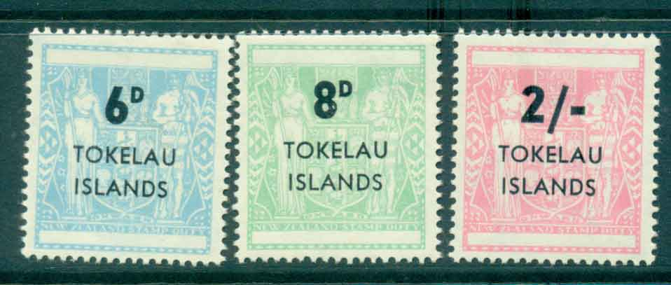 Tokelau Is 1966 Surch on NZ Arms (3)MLH lot43406