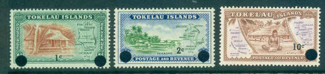 Tokelau Is 1967 Surch on Pictorials (3)MLH lot43408