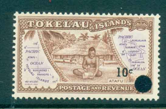 Tokelau Is 1967 10c on 1/2d Surch on Pictorials MLH lot43410