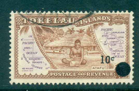 Tokelau Is 1967 10c on 1/2d Surch on Pictorials FU lot43411
