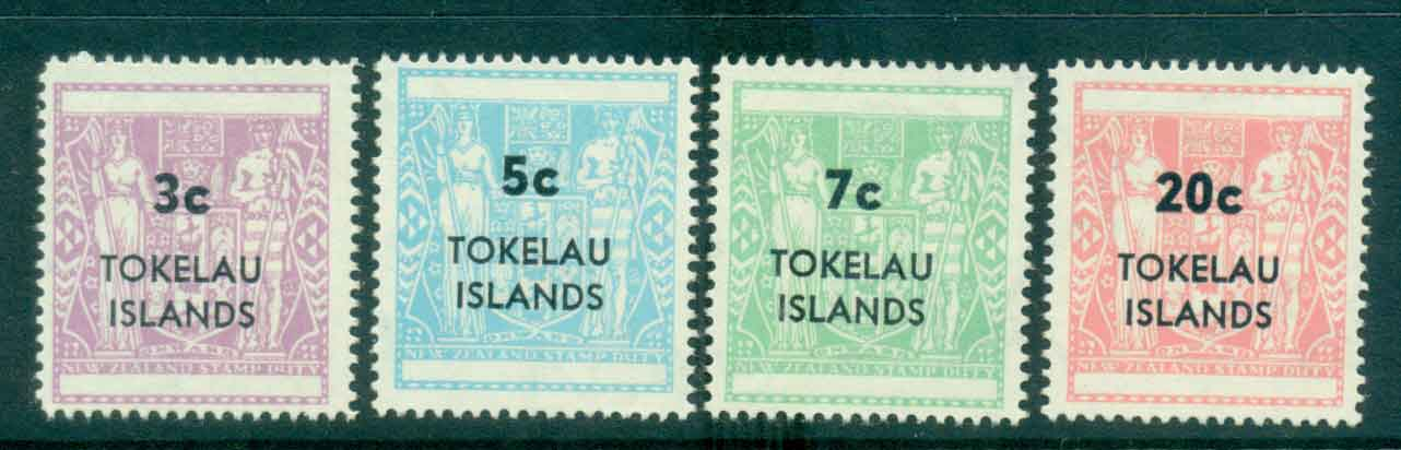 Tokelau Is 1967 Surch on NZ Arms (4)MLH lot43413