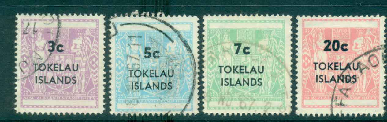 Tokelau Is 1967 Surch on NZ Arms (4)FU lot43414