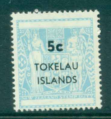 Tokelau Is 1967 5c Surch on NZ Arms MLH lot43415