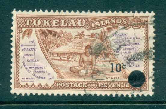 Tokelau Is 1967 10c on 1/2d Surch on Pictorials FU lot43417
