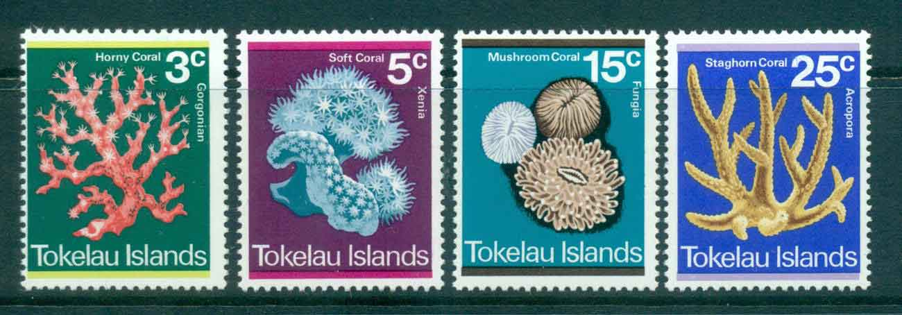 Tokelau Is 1973 Corals MLH lot43424