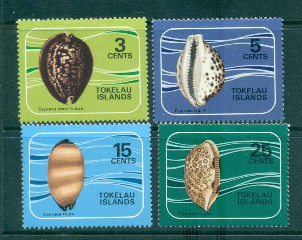 Tokelau Is 1974 Cowrie Shells MLH lot43425