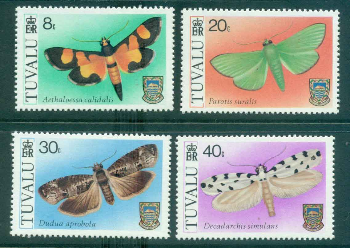 Tuvalu 1980 Moths MUH lot43520