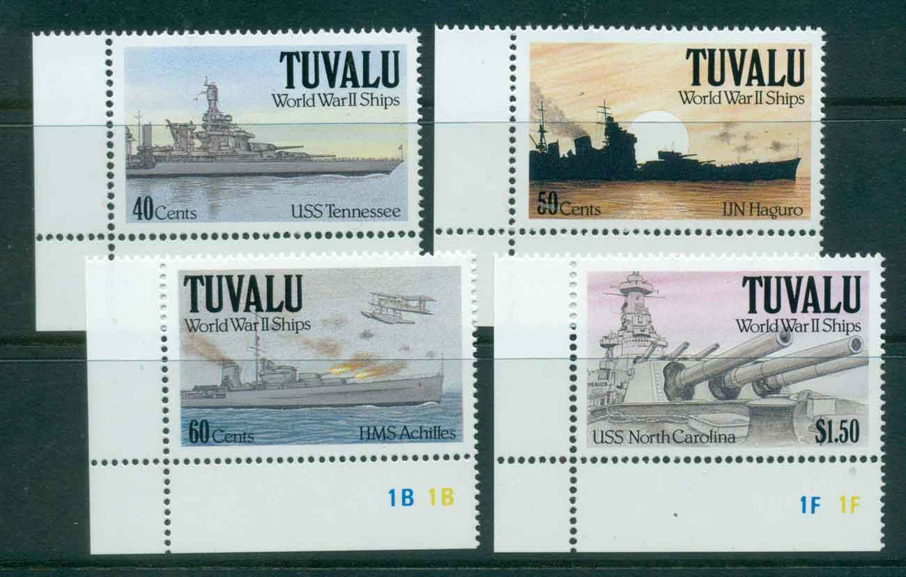 Tuvalu 1991 WWII Ships MUH lot43550