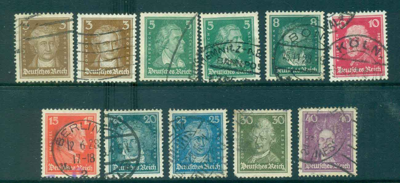 Germany Reich 1926-27 Famous Men Asst FU lot43728