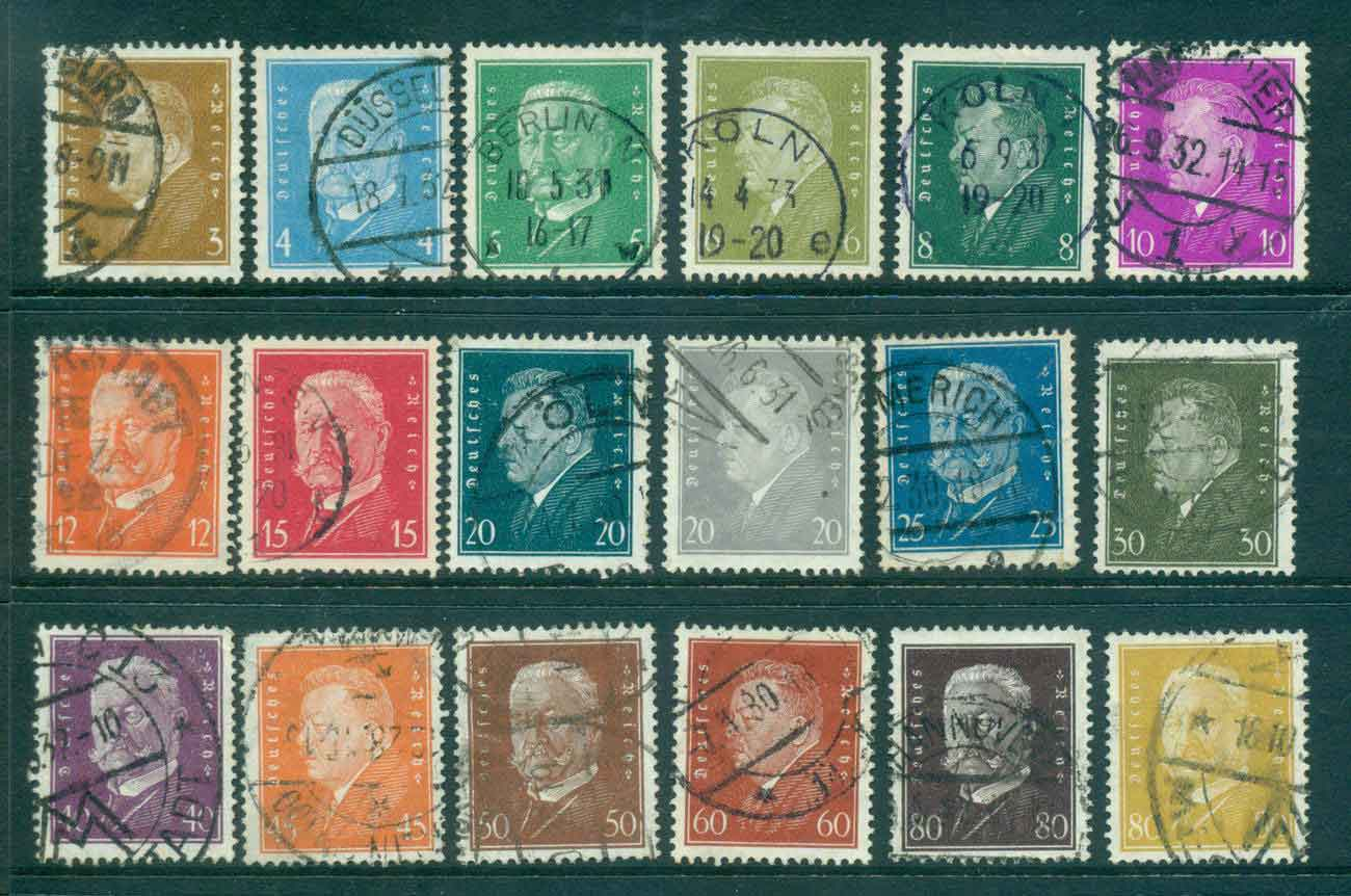 Germany Reich 1928-32 Famous Men Asst FU lot43729