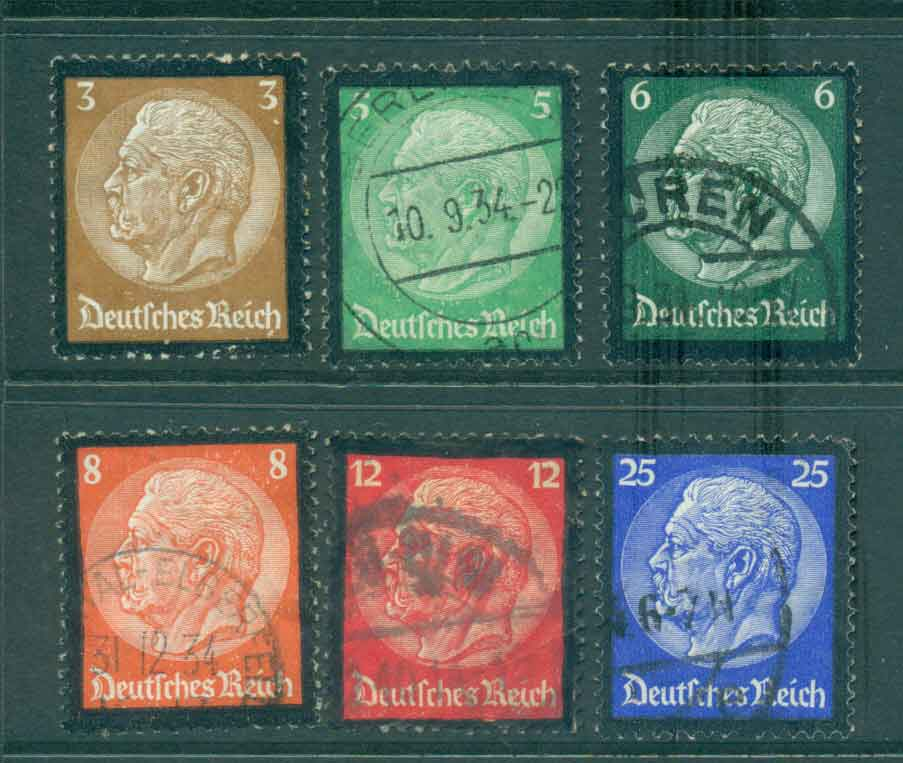 Germany Reich 1934 Hindenberg Memorial FU lot43732