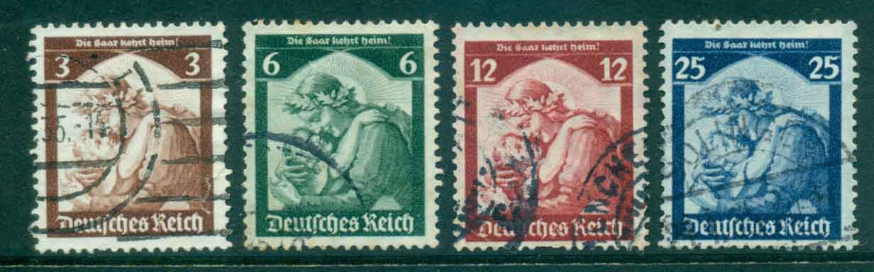 Germany Reich 1935 Return of Saar FU lot43736