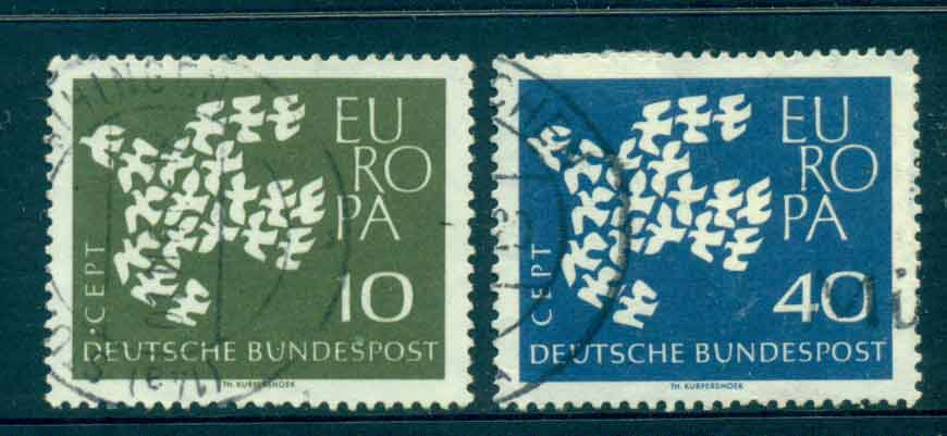 Germany 1961 Europa Ord Paper FU lot43859