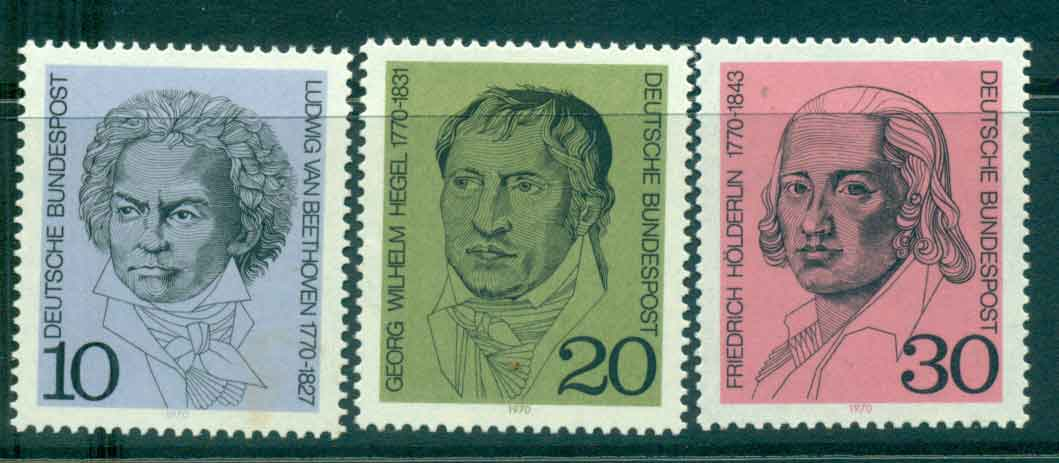 Germany 1970 Portraits MLH lot44101