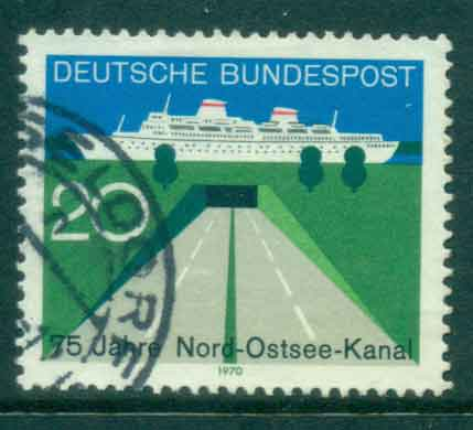 Germany 1970 Baltic Sea Canal FU lot44108