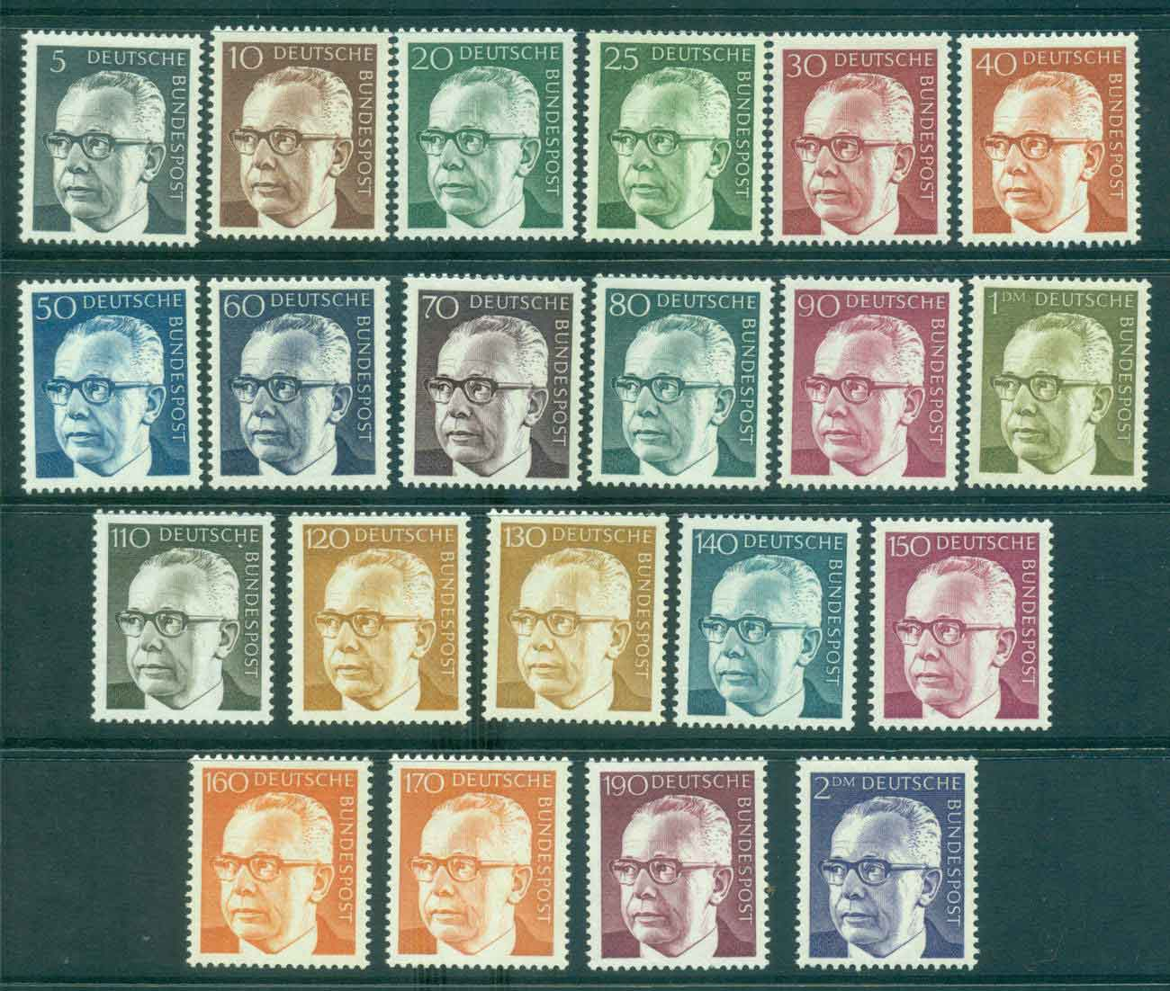 Germany 1970-73 Pres. Gustav Heinemann (21) MLH lot44115