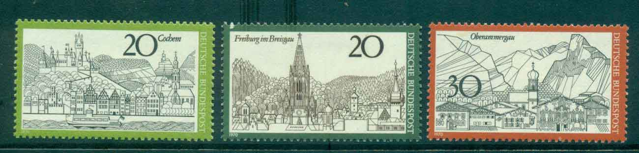 Germany 1970 Towns MLH lot44120