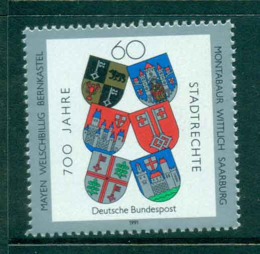 Germany 1991 Town Charters MUH lot44482