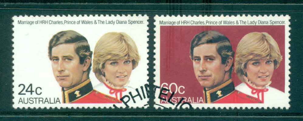 Australia 1981 Charles & Diana Wedding FU lot44758