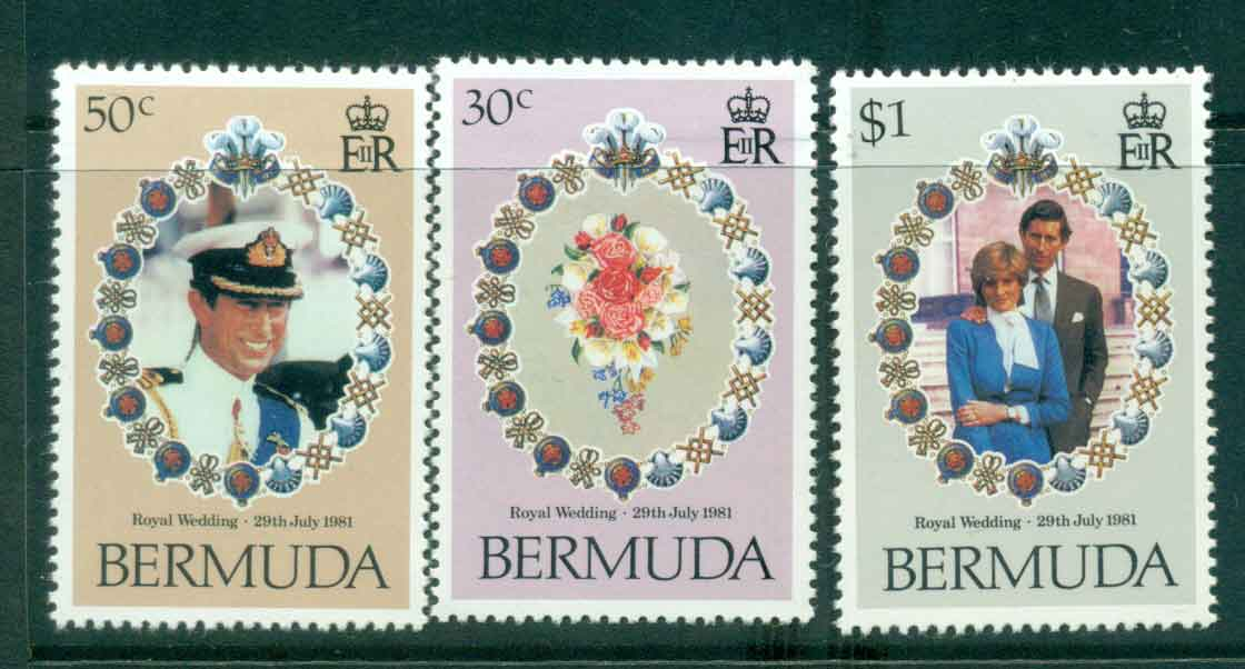 Bermuda 1981 Charles & Diana Wedding MUH lot44802