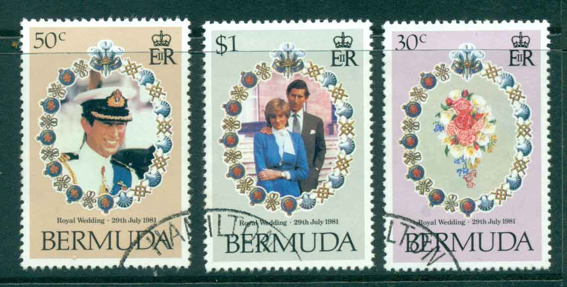 Bermuda 1981 Charles & Diana Wedding FU lot44803
