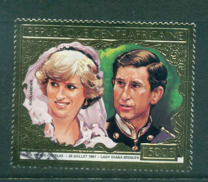 Central African Republic 1981 Charles & Diana Wedding 1500fr FU lot44904