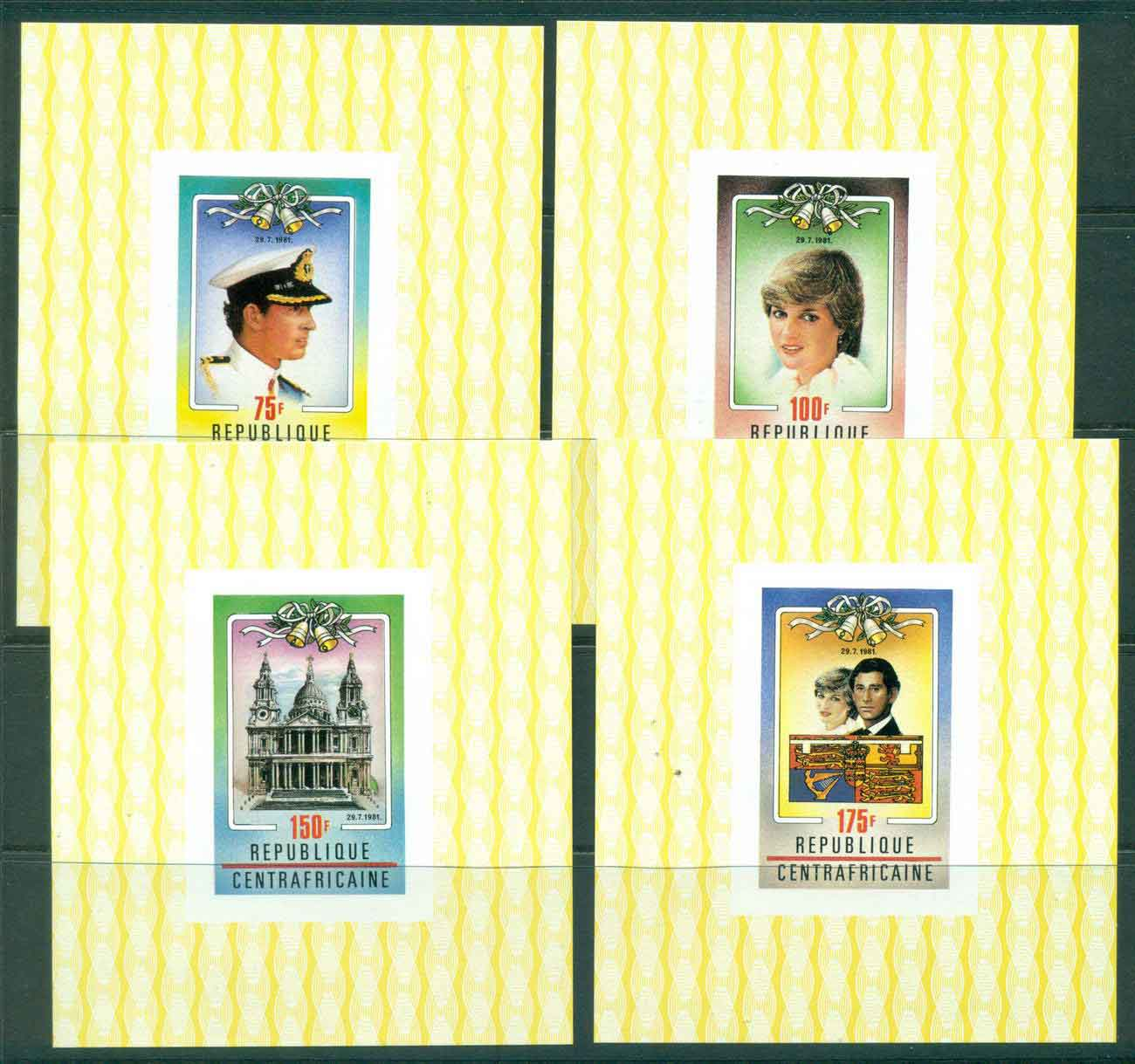 Central African Republic 1981 Charles & Diana Wedding 4x PROOF MUH lot44914