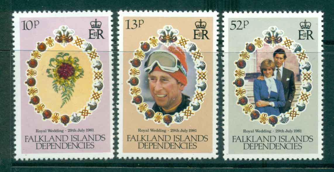 Falkland Is Deps 1981 Charles & Diana Wedding MUH lot44946