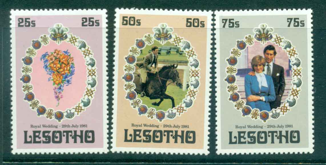 Lesotho 1981 Charles & Diana Wedding MUH lot45073