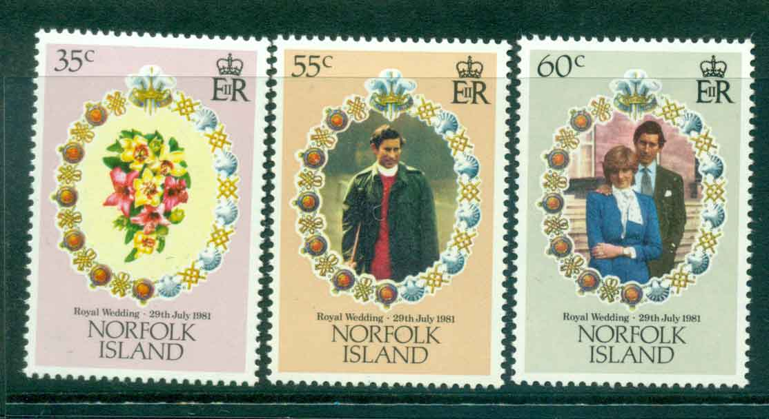 Norfolk Is 1981 Charles & Diana Wedding MUH Lot45116