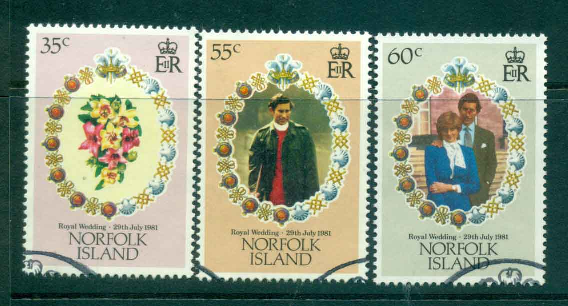 Norfolk Is 1981 Charles & Diana Wedding FU Lot45117