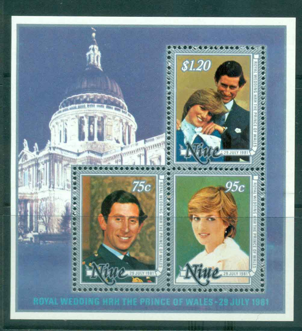 Niue 1981 Charles & Diana Wedding MS MUH Lot45125