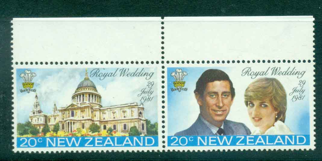 New Zealand 1981 Charles & Diana Wedding pr MUH Lot45134