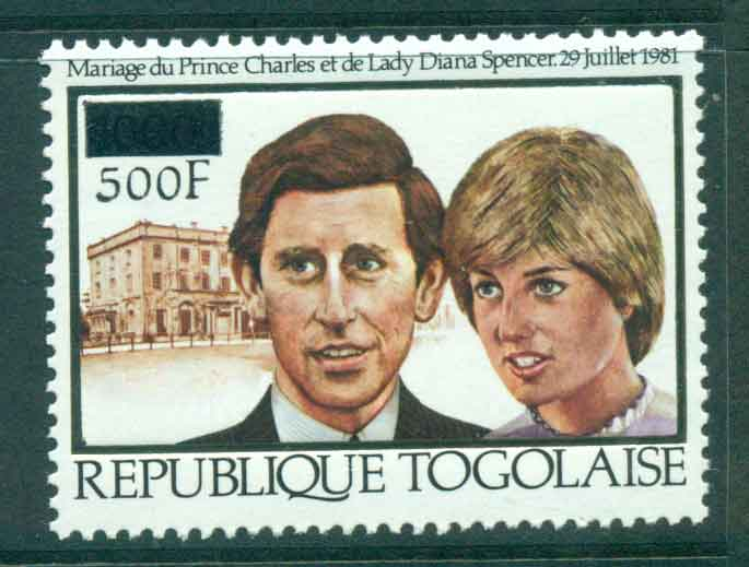 Togo 1981 Charles & Diana Wedding Surcharged MUH Lot45280