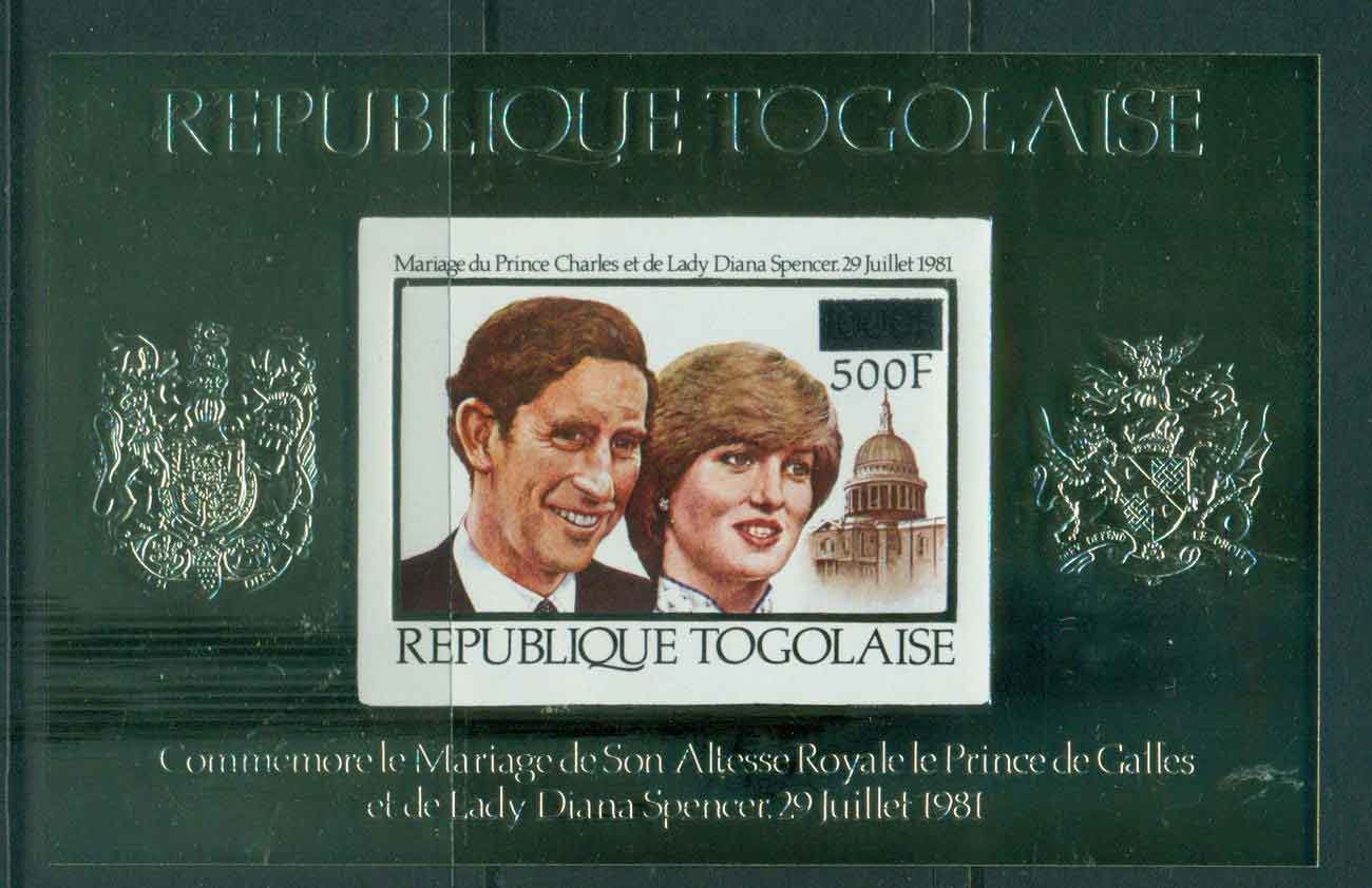 Togo 1981 Charles & Diana Wedding MS Surcharged IMPERF MUH Lot45283