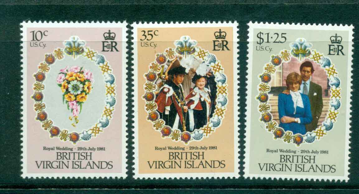Virgin Is 1981 Charles & Diana Wedding MUH Lot45323