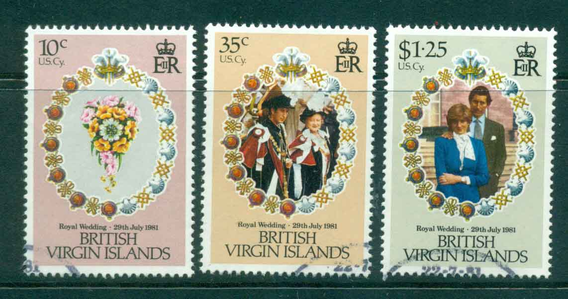 Virgin Is 1981 Charles & Diana Wedding FU Lot45324