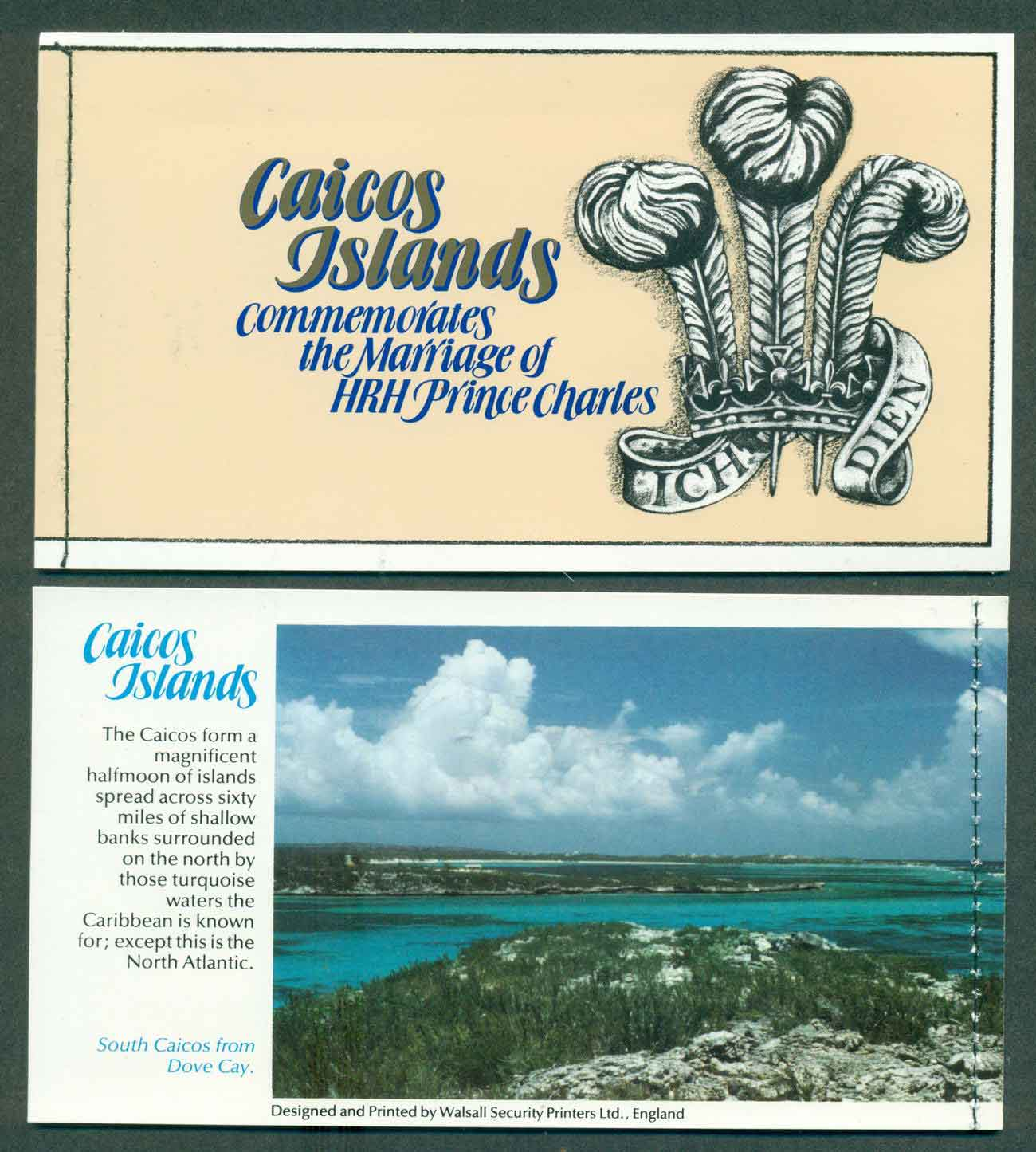 Caicos Is 1981 Charles & Diana Wedding Booklet P&S Lot45339