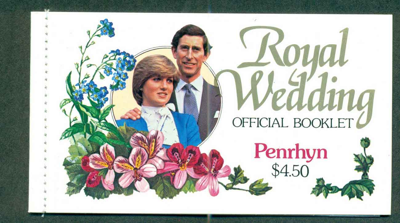 Penrhyn Is 1981 Charles & Diana Wedding Booklet Lot45350