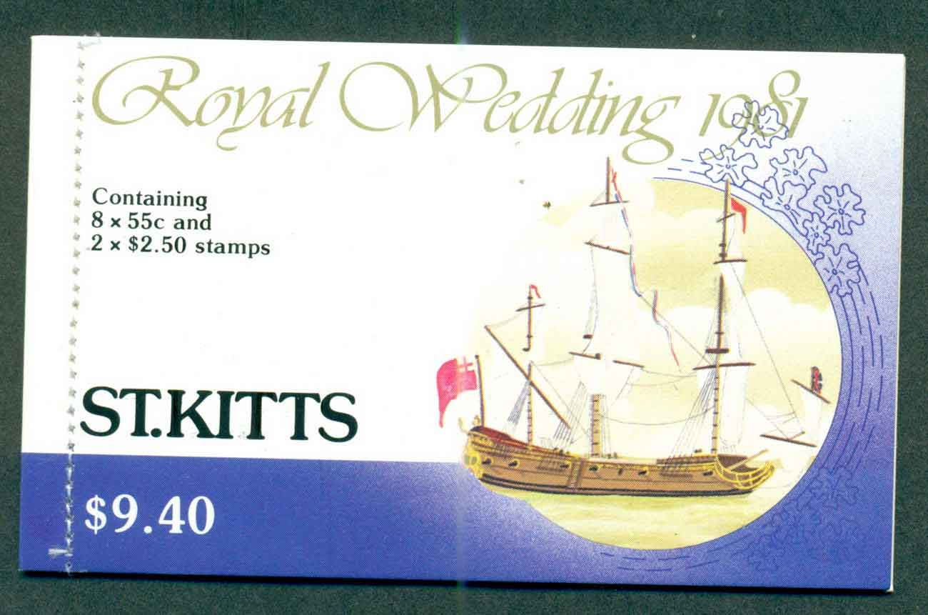 St Kitts 1981 Charles & Diana Wedding Booklet Lot45356