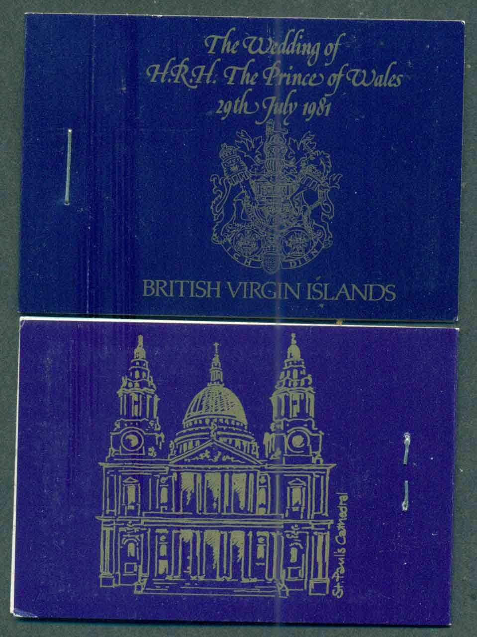 Virgin Is 1981 Charles & Diana Wedding Booklet Panes INVERTED Lot45363