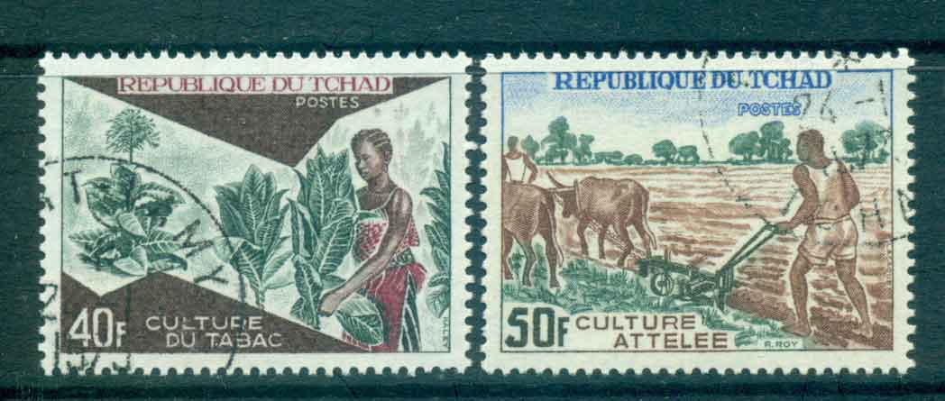 Chad 1972 Tobacco Cultivation, Plowing CTO Lot46319