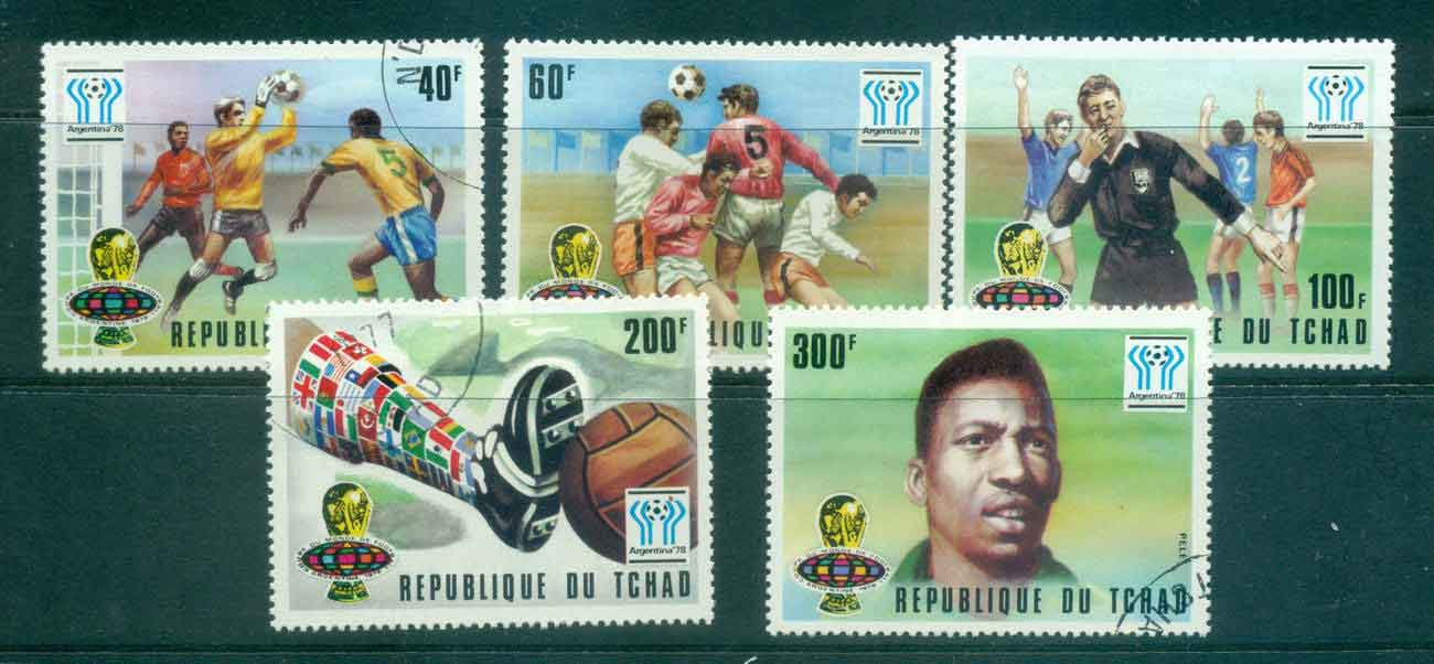 Chad 1977 World Cup Soccer CTO Lot46331