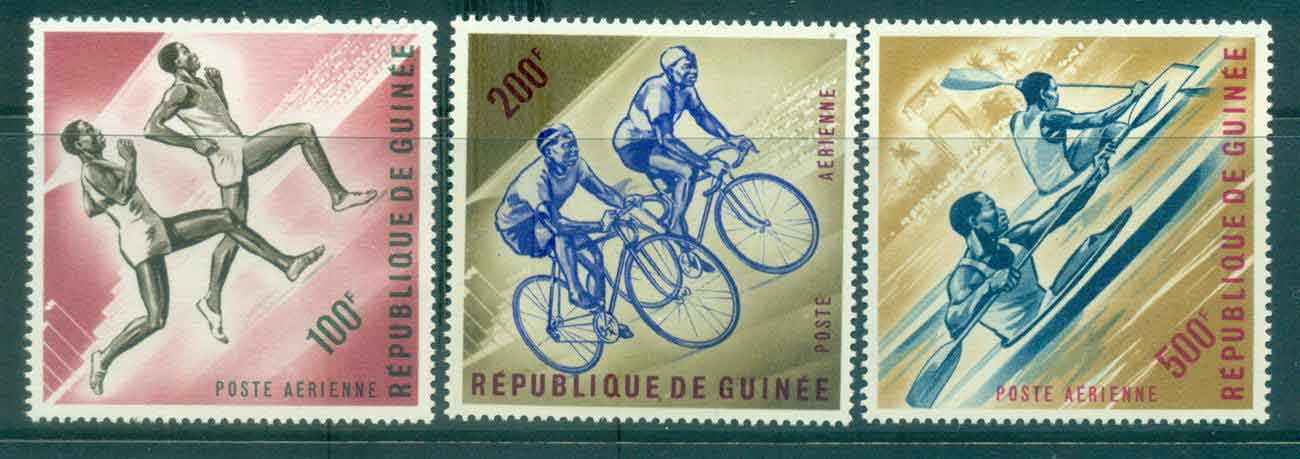 Guinee 1963 Sports 3x Hv 100,200,500f MLH Lot46376